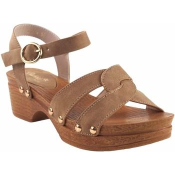 Schuhe Mädchen Sandalen / Sandaletten Bubble Bobble Mädchensandale  a3014 Leder Braun
