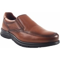 Schuhe Herren Slipper Baerchi 1251 Leder Braun