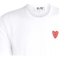 Kleidung Herren T-Shirts Comme Des Garcons T-Shirt da uomo  bianca con cuori Weiss