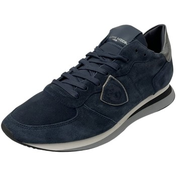 Schuhe Damen Sneaker Low Philippe Model Schnuerschuhe TZLD DS02 blau