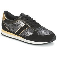 Schuhe Damen Sneaker Low Balsamik LILA Schwarz / Gold