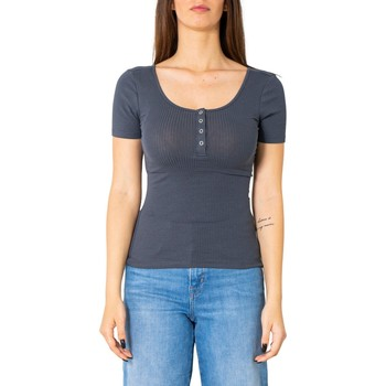 Kleidung Damen T-Shirts Pieces 17101439 Blu