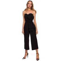Kleidung Damen Overalls / Latzhosen Moe M571 Trägerloser Jumpsuit - schwarz
