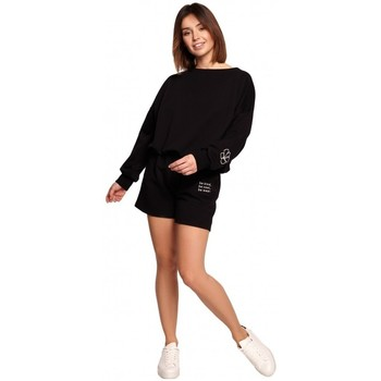 Kleidung Damen Shorts / Bermudas Be B186 Shorts mit Stickerei - schwarz