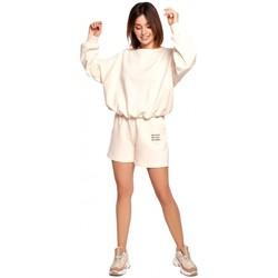 Kleidung Damen Shorts / Bermudas Be B186 Shorts mit Stickerei - vanille