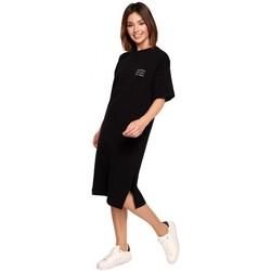 Kleidung Damen Kurze Kleider Be B194 Relaxed Fit T-Shirt Kleid - schwarz