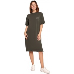 Kleidung Damen Kurze Kleider Be B194 Relaxed Fit T-Shirt Kleid - militärgrün