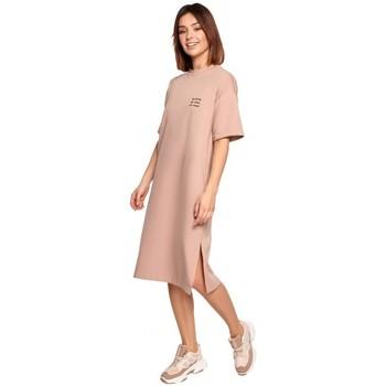 Kleidung Damen Kurze Kleider Be B194 Relaxed Fit T-Shirt Kleid - mocca
