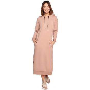 Kleidung Damen Maxikleider Be K092 Kleid mit Schulterriemen - schwarz