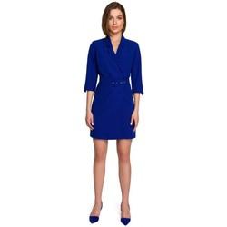 Kleidung Damen Kurze Kleider Style S255 Hose mit Umschlag - schwarz