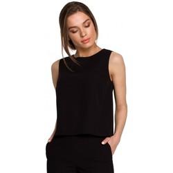 Kleidung Damen Tops / Blusen Style S257 Ärmellose Bluse - grün