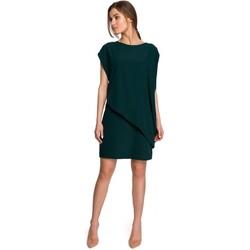 Kleidung Damen Kurze Kleider Style S262 Mehrlagiges Kleid - grün