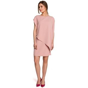 Kleidung Damen Kurze Kleider Style S262 Mehrlagiges Kleid - Puder