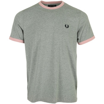Kleidung Herren T-Shirts Fred Perry Ringer T-Shirt Grau