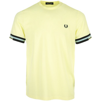 Kleidung Herren T-Shirts Fred Perry Abstract Cuff T-Shirt Gelb