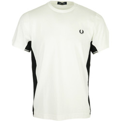 Kleidung Herren T-Shirts Fred Perry Twin Tipped Panel T-Shirt Weiss