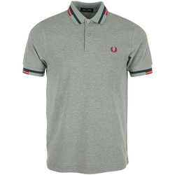 Kleidung Herren Polohemden Fred Perry Abstract Tipped Polo Shirt Grau