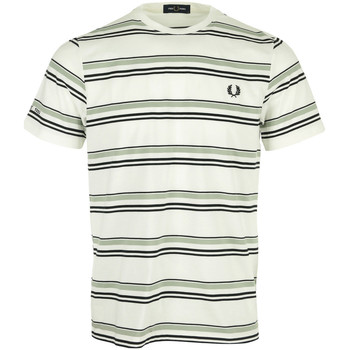 Kleidung Herren T-Shirts Fred Perry Striped T-Shirt Weiss