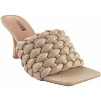 Schuhe Damen Pantoletten Bienve Zeremonie Dame  1bs-1170 beige Braun