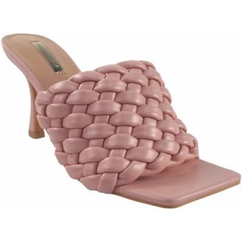 Schuhe Damen Pantoletten Bienve Zeremonie Dame  1bs-1170 rosa Rose