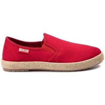 Schuhe Damen Leinen-Pantoletten mit gefloch Big Star 274017 Rot