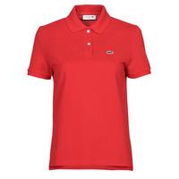 Kleidung Damen Polohemden Lacoste POLO REGULAR FIT PF7839 Rot