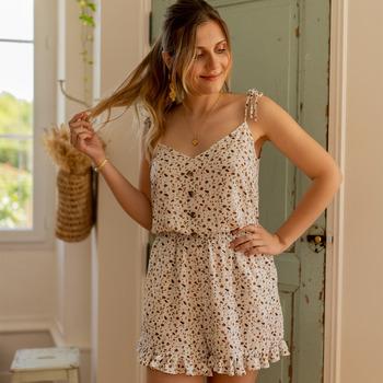 Kleidung Damen Overalls / Latzhosen Céleste NEROLI Naturfarben