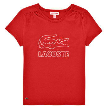 Kleidung Mädchen T-Shirts Lacoste JEANNE Rot