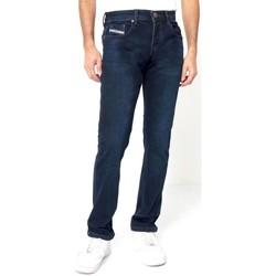 Kleidung Herren Slim Fit Jeans True Rise Moderne Jeans Für Blau