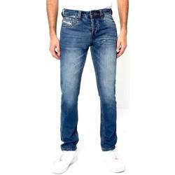 Kleidung Herren Slim Fit Jeans True Rise Jeans Farbspritzer Blau