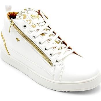 Schuhe Herren Sneaker High Cash Money  Weiß