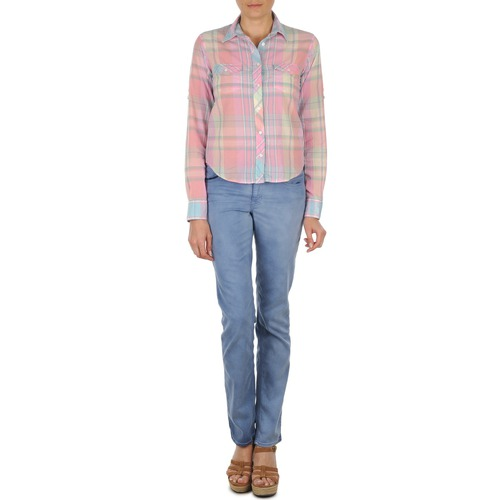 Kleidung Damen Straight Leg Jeans Gant DANA SPRAY COLORED DENIM PANTS Blau