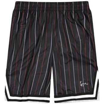 Kleidung Herren Shorts / Bermudas Karl Kani Short  Small Signature Pinstripe Mesh noir/bleu/rouge
