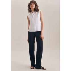 Kleidung Damen Tops / Blusen Seidensticker Schwarze Rose 60.127406 Weiß