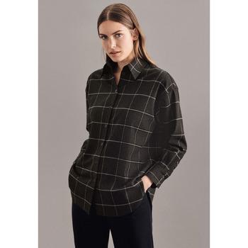 Kleidung Damen Tops / Blusen Seidensticker Schwarze Rose 60.130181 Grau