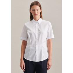 Kleidung Damen Hemden Seidensticker Schwarze Rose 60.080636 Weiß