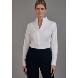Kleidung Damen Hemden Seidensticker Schwarze Rose 60.080644 Weiß