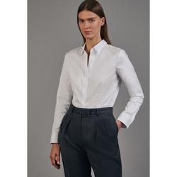 Kleidung Damen Hemden Seidensticker Schwarze Rose 60.080645 Weiß