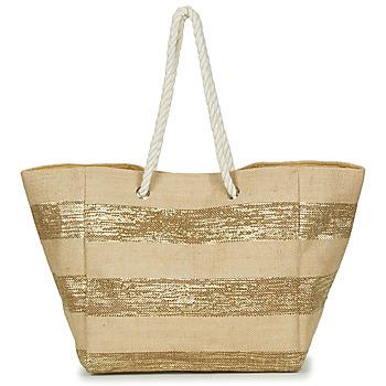 Taschen Damen Shopper / Einkaufstasche Betty London  Beige / Goldfarben