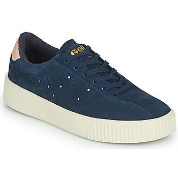Schuhe Damen Sneaker Low Gola SUPER COURT SUEDE Marine / Rose