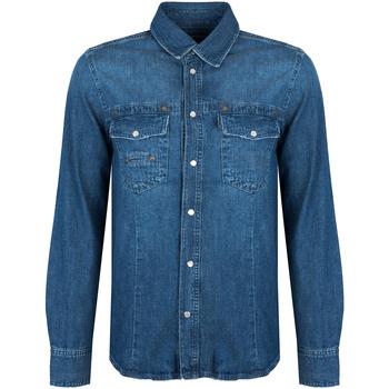 Kleidung Herren Langärmelige Hemden Bikkembergs  Blau