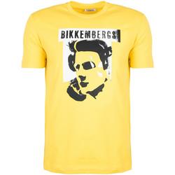 Kleidung Herren T-Shirts Bikkembergs  Gelb