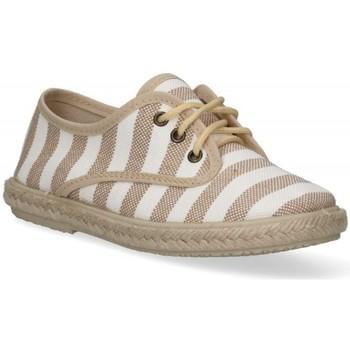 Schuhe Jungen Leinen-Pantoletten mit gefloch Luna Collection 55921 braun
