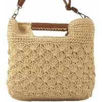 Taschen Damen Handtasche Bienve Lady   hg97206 beig Weiss