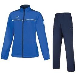 Kleidung Damen Jogginganzüge Mizuno Survêtement  femme Team tokyo micro noir/bleu marine