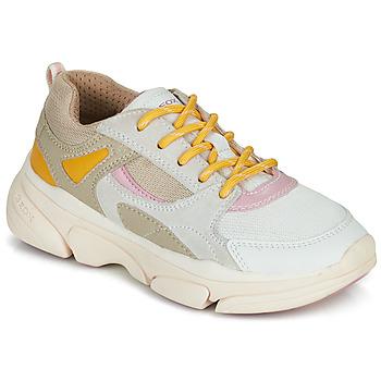 Schuhe Mädchen Sneaker Low Geox J LUNARE GIRL Beige