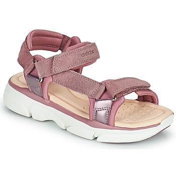 Schuhe Mädchen Sandalen / Sandaletten Geox J SANDAL LUNARE GIRL Rose
