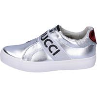 Schuhe Mädchen Slip on Fiorucci BH178 Silber