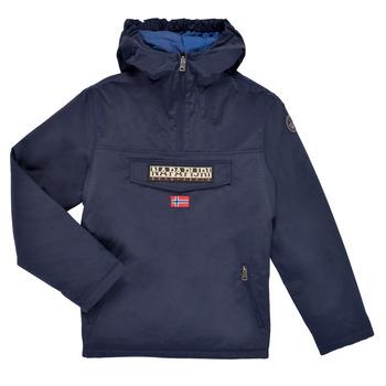 Kleidung Kinder Parkas Napapijri RAINFOREST POCKET Marine