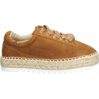 Schuhe Damen Leinen-Pantoletten mit gefloch Bullboxer Halbschuhe Hazelnut